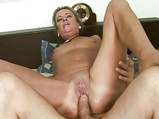 busty old gets her ass banged