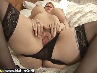 big boobs grownup  with black nylons