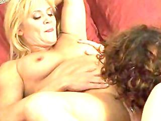 two dike mommas have angel on lady inside bedroom
