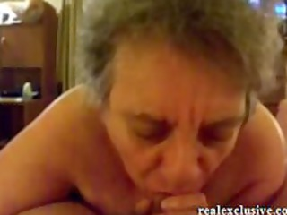 62 years elderly sandra licking penis of her love
