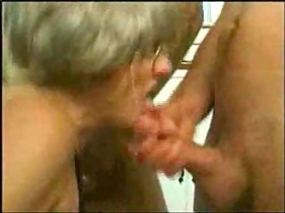 grand milf trys gangbang with several young