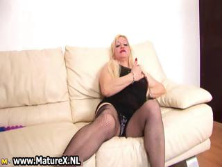 albino desperate lady massages her large part5