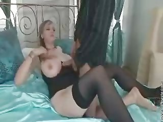 large boobed older mom uneasy
