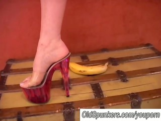horny milf likes high shoes