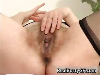 stunning round bossom mom dildo gangbanged part3