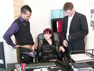 grownup workplace whore likes two penises