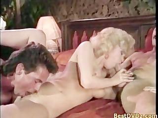 hard threesome banging on armchair