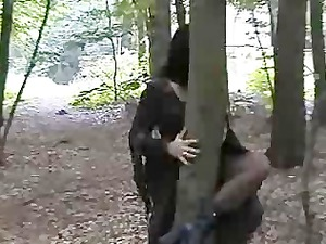 goth amp groupfucked inside the woods