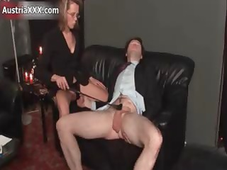 filthy cougar amp goes mad spanking