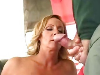 naughty mature housewife get twofold facial