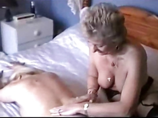 two grannies into gstring and pantyhose