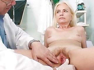 skinny hirsute old slut doctor treatment