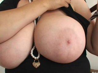 euro giant breast grownup posing