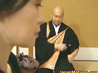 japanese mature chick is inside for some super