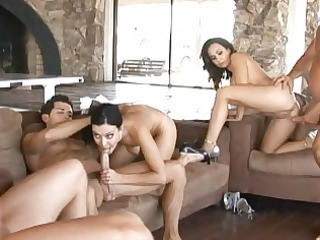 angelic busty wifes having awesome hardcore orgy