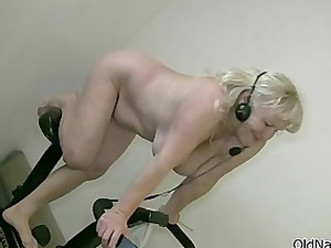blonde granny with large boobs dances sweet part2