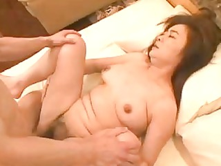 japanese older  masako kurashima sucking mad