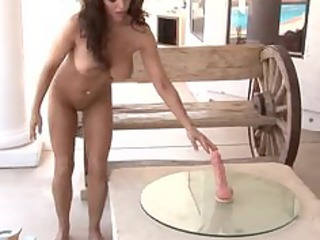 slutty lady trying our sybian
