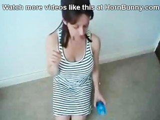 lady puts a condom on her son - hornbunny.com