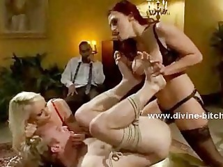 girlfriends pervert husbands inside femdom sex