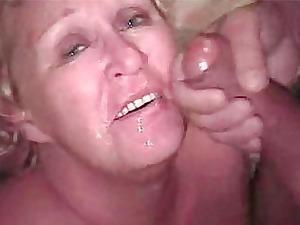 granny blond bukkake