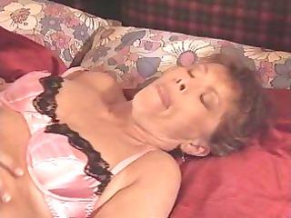 elderly into pink lingerie copulates