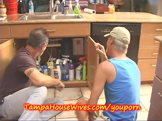 milf housewife acquires fucked by the plumbers