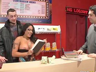 large breast milf brunette pornstar copulates her