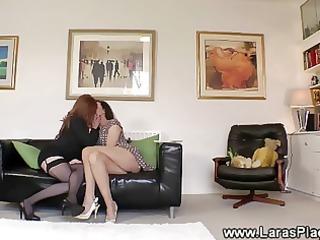 cougar homosexual woman chick seduced inside porn