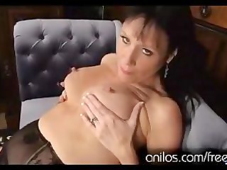 desperate lady pushing dildo