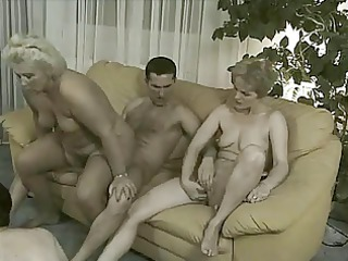grannies inside orgy - 4 old babes &; 3 sweet