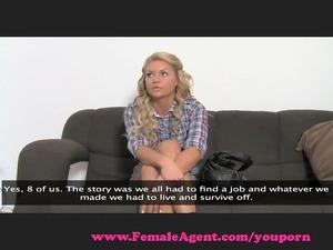 femaleagent. reality tv lady tries porn.
