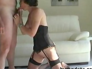 slutty older  licks hubbys penis and acquires
