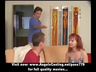 redhaired milf as bride does fellatio for big boy