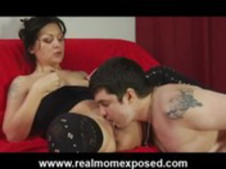 horny tattooed wife tight banged on the bed