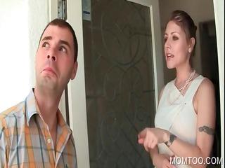 slutty woman oral copulates big cock