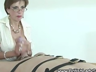 femdom older  brit jerks off libido