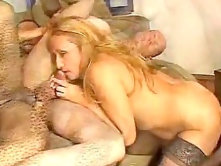 mature babe receives twin teamed