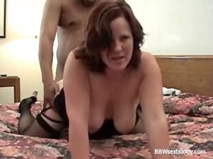 bbw lady enjoys 2 penises when hubby is taping