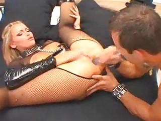 albino mature babes into latex and fishnets