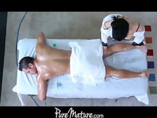 puremature lady massage bottom fuck