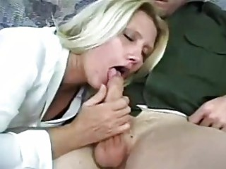 blond grownup lady takes gangbanged