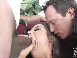 cuckold watching his white wife banged by ebony