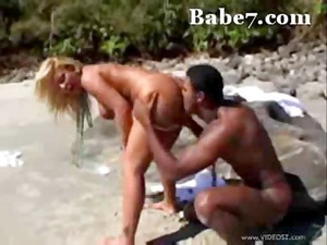 pale bitch acquires a walk on the beach and