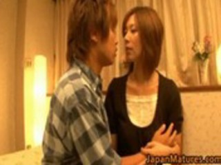 japanese cougar lady has super  fuck