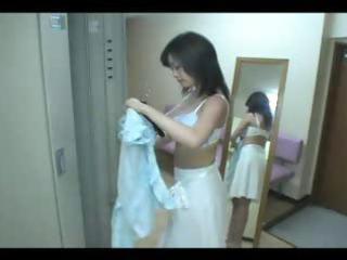 japanese extremely impressive lady into locker