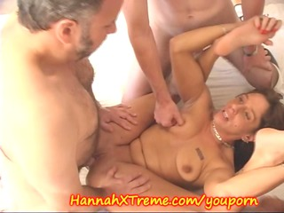 mature babe and the cumshots swallowing gang drill