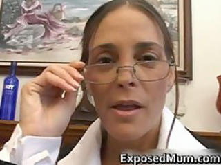 astonishing milf in glasses deepthroating dark