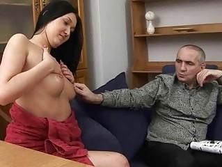 lady taking pierced