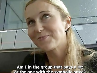 czech streets blonde mature babe picked up on